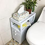 GL&G Bathroom Furniture Simple modern white waterproof Bathroom corner cabinet Storage storage cabinets Toilet side cabinet home, hotel side cabinet