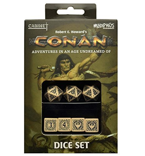 Robert E. Howard's Conan: Adventures in an Age Undreamed Of - Dice Set (7) by Modiphius Entertainment