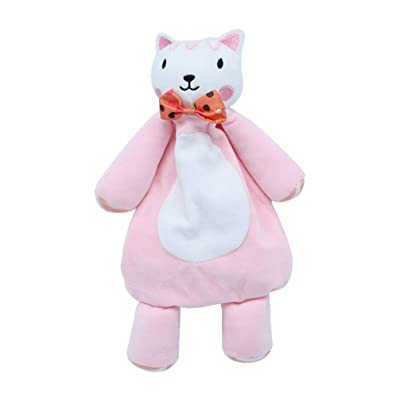 NUOBESTY Baby Plush Toys Stroller Stuffed Animal Rabbit Plush Doll Teething Towel for Baby Infants Sleeping (Pink): Office Products [5Bkhe1403345]