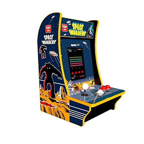 - Arcade 1Up Space Invaders Countercade, Tabletop Design
