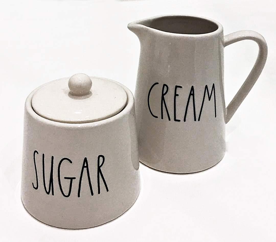 Rae Dunn by Magenta Contemporary Ceramic LL Cream and Sugar Set by Rae Dunn by Magenta