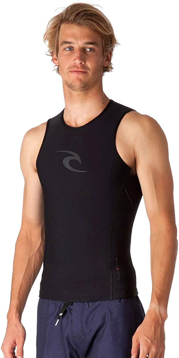 Rip Curl Flashbomb Long Sleeve Polypro Thermal Surf Gear Rash Vest Black