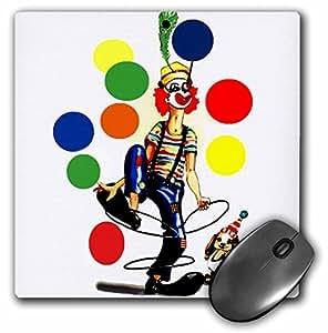 3dRose LLC 8 x 8 x 0.25 Inches Mouse Pad, Fun Clown (mp_1258_1)