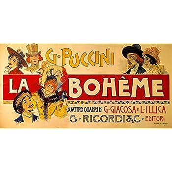"La Boheme Opera Music by G Puccini Theater Show 16/""X20/"" Vintage Poster FREE SH"