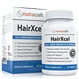 #1 Hair Loss Supplement & DHT Blocker - Natural 3-in-1 Remedy for Hair Recovery and Regrowth with Biotin for Hair Growth, DHT Blocking Herbs to Stop Thinning Hair Plus Vitamins - 60 Tablets