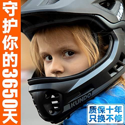 口のヘルメットフルフェイス保護ヘルメット保護ギア自転車に乗っコムcratoni露出バランスkundo子の車   B07S2KDHCY