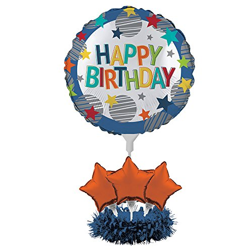 Creative Converting Balloon Centerpiece Kit, Happy Birthday - Balloon Creative Converting