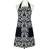 cozy.room Aprons for Women Men Plus Size Retro Vintage Aprons With Two Pockets&Extra-long Tie,Kitchen Aprons Cotton Canvas for Baking