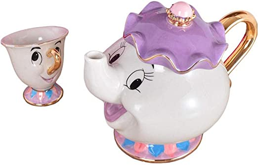 Potts Chip Tea Pot /& Cup set Teapot Mug New NEW Beauty and The Beast Mrs Pot
