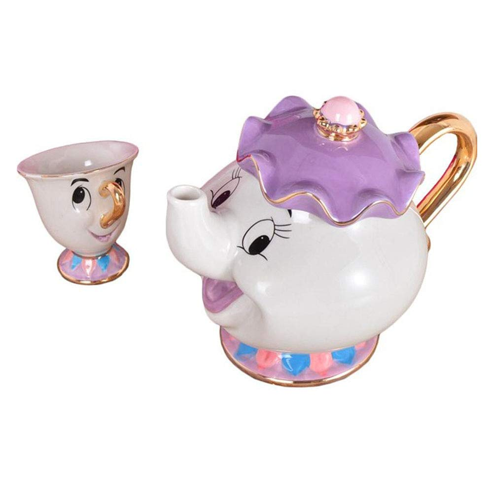 NEW Beauty and The Beast Mrs. Potts Chip Tea Pot & Cup set Teapot Mug ( Pot & Cup) C-187