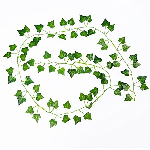 12pcs Artificial Flower Vine Decoration Fake Begonia Leaf Leaves - 4