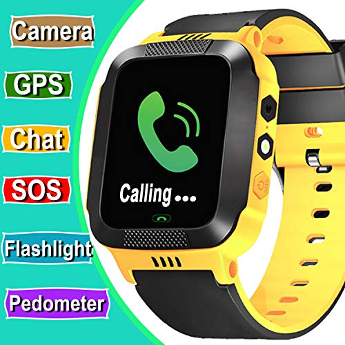 Kids Phone Smart Watch - Ereon SOS GPS Tracker Kids Smartwatch for 3-14 Years Girls Boys Touch Screen Summer Outdoor with Camera Anti Lost Digital Wrist Watch Bracelet for iPhone Android Smartphone