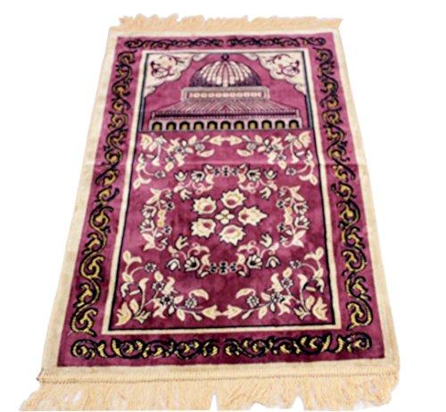 Sandala Islam Sajadah Rug Muslim Ramadan Bellebed Sajjadah Prayer Mat (Purple) by Sandala