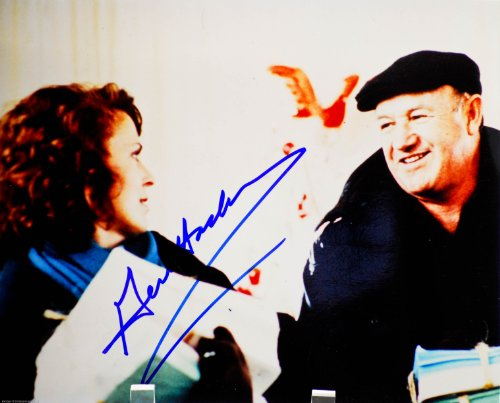 Gene Hackman Autographed 8x10 Color Photograph - Signed in Blue / Signed In Person - Photo from Royal Tenenbaums - French Connection / Superman / Unforgiven - Retired Now - Rare - Collectible