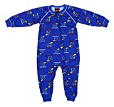 Outerstuff Kansas Jayhawks NCAA Little Boys Raglan Zip-up Coverall Sleeper, Blue
