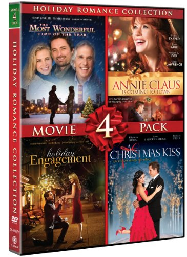 Holiday Romance Collection Movie 4 Pack (A Christmas Kiss, Holiday Engagement, The Most Wonderful Time Of The Year, Annie Claus Is Coming To Town) (Abc 2019 Christmas Movies)