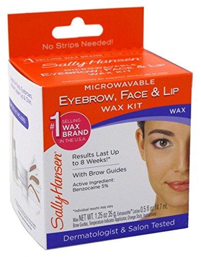 Sally Hansen Microwaveable Wax Kit For Eyebrow/Face/Lip (2 Pack)