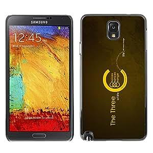 TECHCASE**Cubierta de la caja de protección la piel dura para el ** Samsung Galaxy Note 3 N9000 N9002 N9005 ** Choices Chances Change Life Quote Motivational