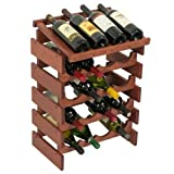 20-Bottles Wine Rack with Display Top