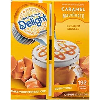 International Delight Coffee Creamer Singles, Caramel Macchiato, 192 Count