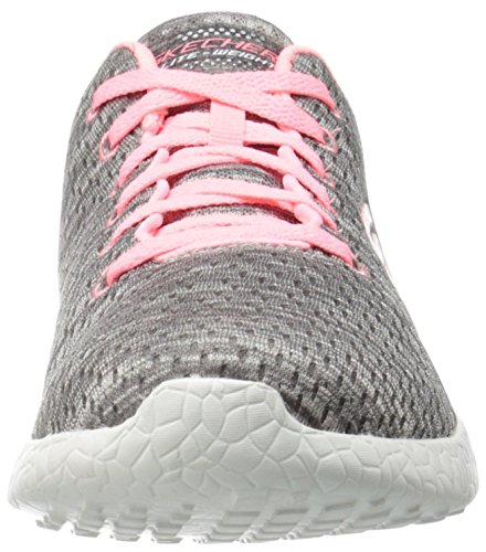 Gris New Gris Skechers Influence Basses Femme Gycl Baskets Burst Corail 5Yw7Y8
