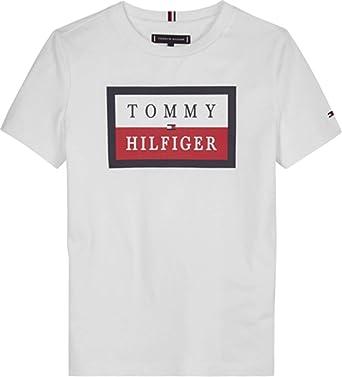 Tommy Hilfiger KB0KB05625 Camiseta Niños 8A: Amazon.es: Ropa y accesorios