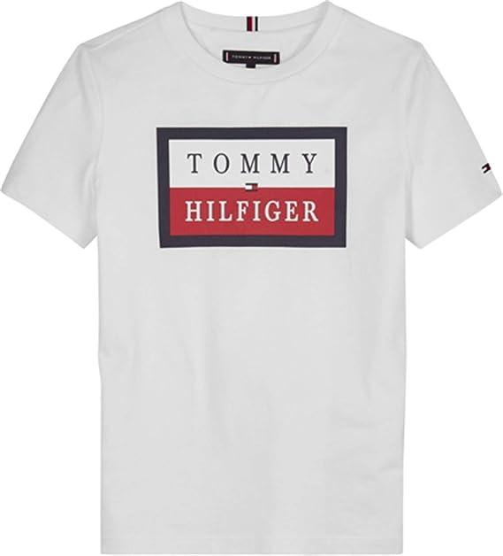 Tommy Hilfiger - Camiseta KB0KB05625 Essential TH Logo tee - Camiseta NIÑO: Amazon.es: Ropa y accesorios