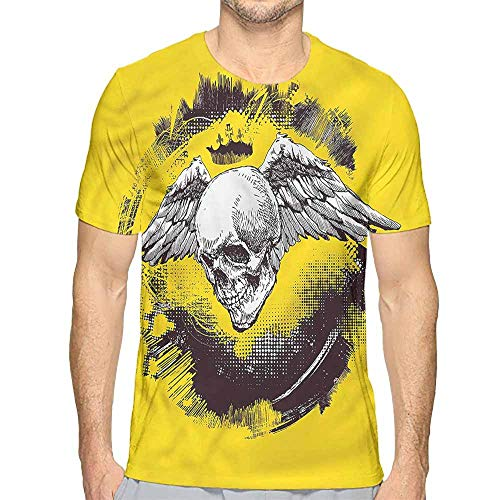 t Shirt Printer Tattoo,Death Angel Wings Skull Junior t Shirt S ()