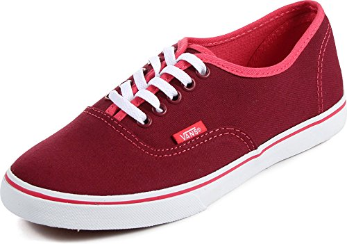 Vans Pop Authentic Lo Pro Rumba Red/Teaberry Size 5