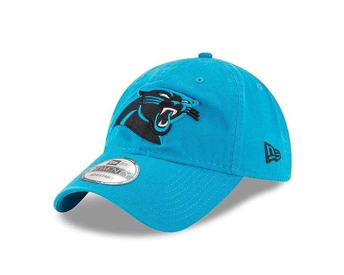 0312e9b7bf05c Amazon.com  New Era Men s Carolina Panthers 9Twenty Core Blue One ...