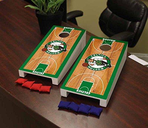 Victory Tailgate Boston Celtics NBA Basketball Desktop Cornhole Game Set Basketball Court (Boston Celtics Mini Basketball)