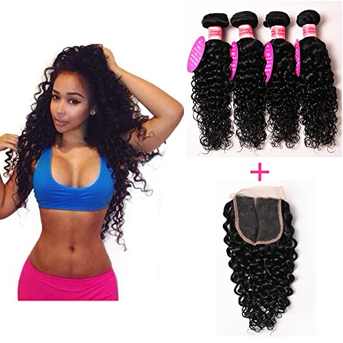 Perstar-Hair-7A-Grade-Brazilian-Water-Wave-3-Bundles-with-Closure-Uprocessed-Virgin-hair-with-44-lace-closure-free-part