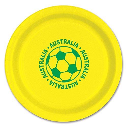 Beistle 58006-AUS 8-Pack Plates, 9-Inch, Australia]()