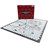 Hexers role playing game board: vinyl mat alternative - Dungeons and Dragons D&D DnD Pathfinder RPG play compatible - 27''x23'' - 1'' squares on one side, 1'' hexes on the other - Foldable & Dry Erase