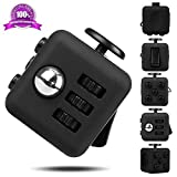 EpochAir Fidget Cube Prime Toys Anti-Stress/Anti-anxiety for EDC, ADHD, Children, Teens, Student and Adults Dice Stress Reliever (Black)