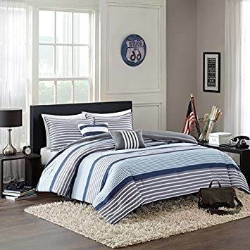 awful king sets comforter of size striped white bedroom medium com and coms blue
