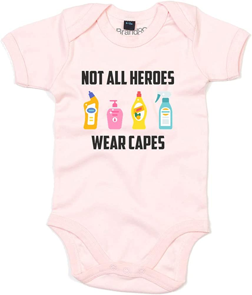 Brand88 Not All Heroes Wear Capes Baby Grow