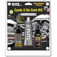 Flitz Cycle 2 Go Care Kit w/Polish, Speed Waxx, Chrome Clean & Microfiber Cloth