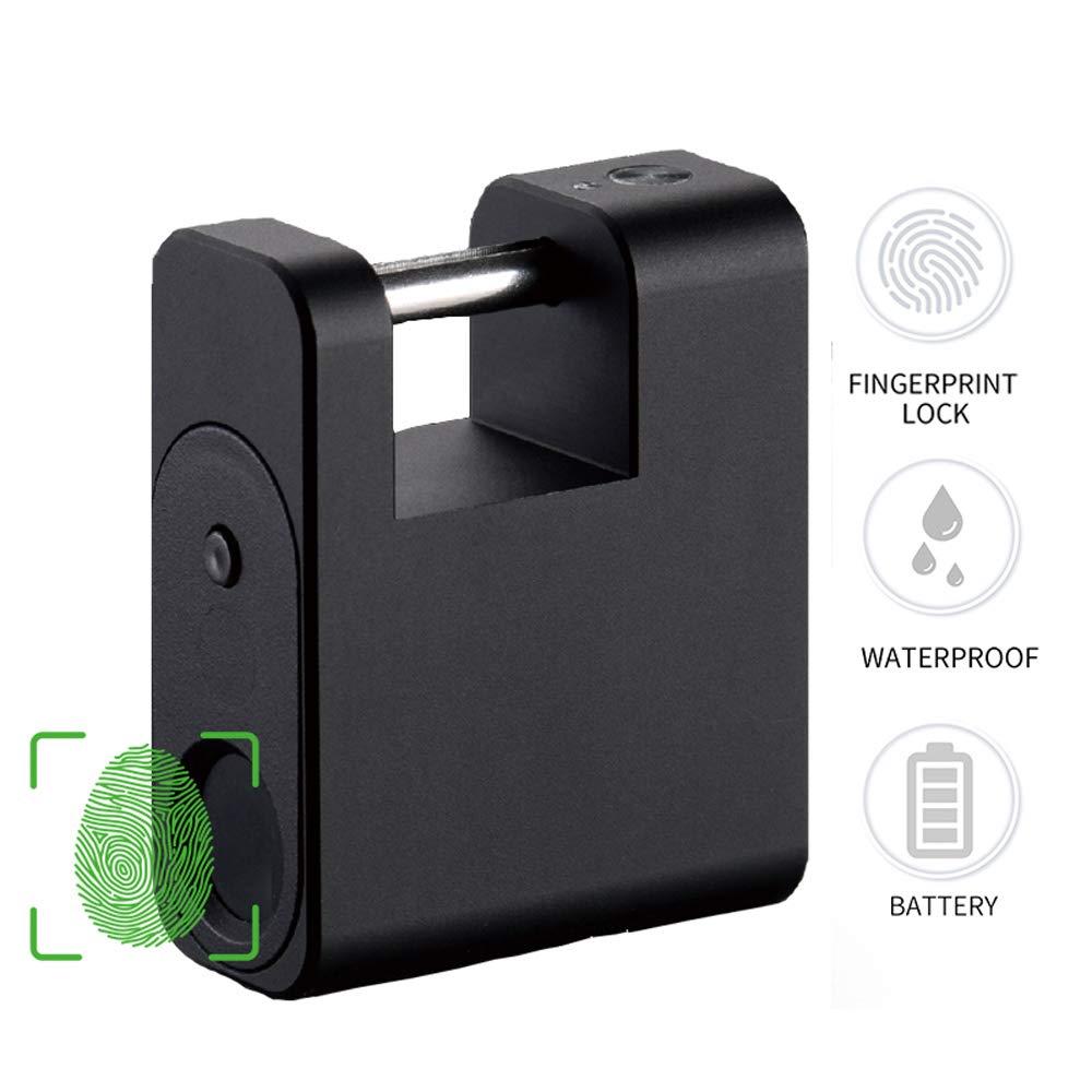 MUYIER Fingerprint Padlock, Smart Fingerprint Padlock 360° Fingerprint Recognize Padlock with Micro USB Rechargeable for House Door Suitcase Backpack Gym Bike Office by MUYIER