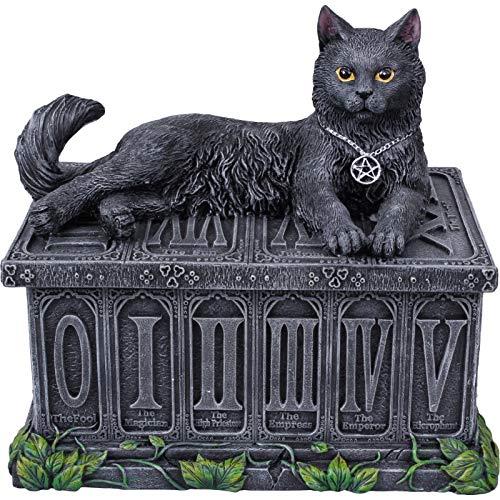 Pacific Giftware Nemesis Now Black Cat Fortune's Watching Tarot Box