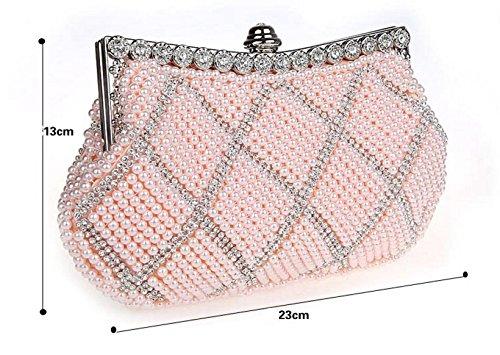 bolsos de diamantes de imitación/moldeado del embrague/paquete de banquete de la moda/bolsos de noche de alto grado/paquete de novia/paquete de dama de honor-B B