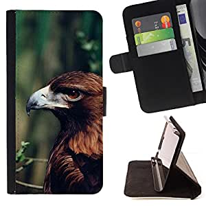 BullDog Case - FOR/LG G3 / - / eagle summer green branch nature brown /- Monedero de cuero de la PU Llevar cubierta de la caja con el ID Credit Card Slots Flip funda de cuer