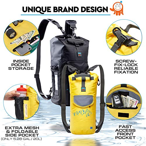 Waterproof Floating Backpack by LuckRoute – Dry Bag for Kayaking – Sack for  Beach Boating Fishing 9f0cf34ceeb63