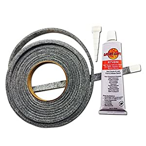 Smoker Sealer High Temp BBQ gasket & adhesive smoker lid door tape GL-1/2 & LL3R