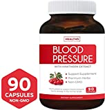 Blood Pressure Support Supplement (Non-GMO) - Premium Natural Herbs, Vitamins & Berries - High Dosage of Hawthorn Extract - Berry Lower Pills - 90 Capsules
