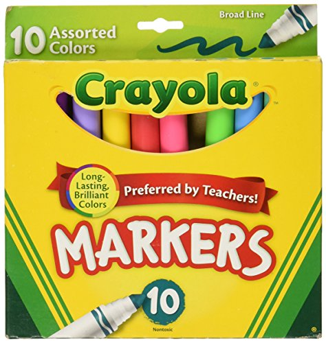 Crayola Broad Line Markers-Assorted Colors 10/Pkg (Crayola Ornament)