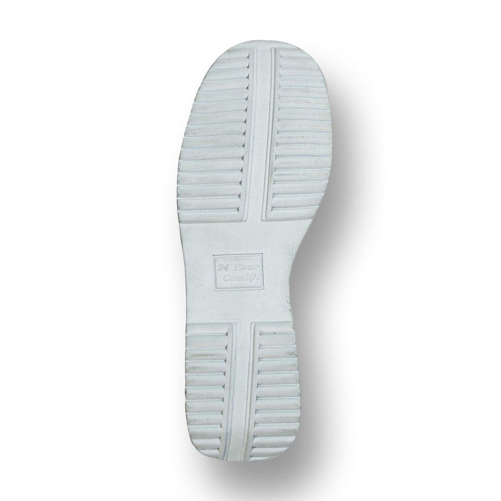 24 Hour Comfort  Lauren Women Wide Width Buckle Comfort Shoes White 11 by 24 Hour Comfort (Image #5)