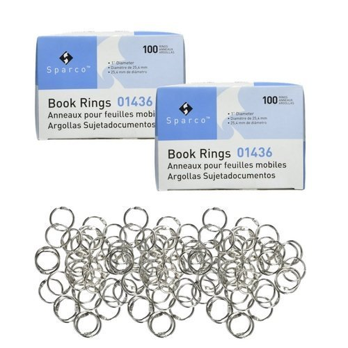 Sparco Book Rings 1 Inch (2 Pack)