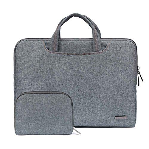 """13 """"Maleta portable de nylon de gama alta de la computadora del ordenador portátil de gama alta para Macbook con la pequeña bolsa, A"""