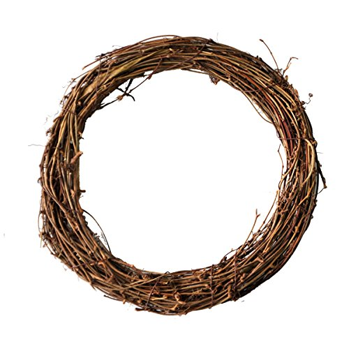 Ougual DIY Crafts Natural Grapevine Wreaths (12-Inch, 2-Pack)